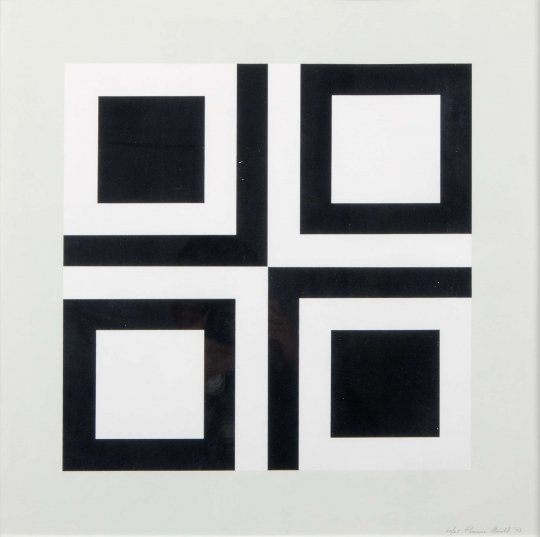 Untitled (Black and White Squares) by Florence Arnold
