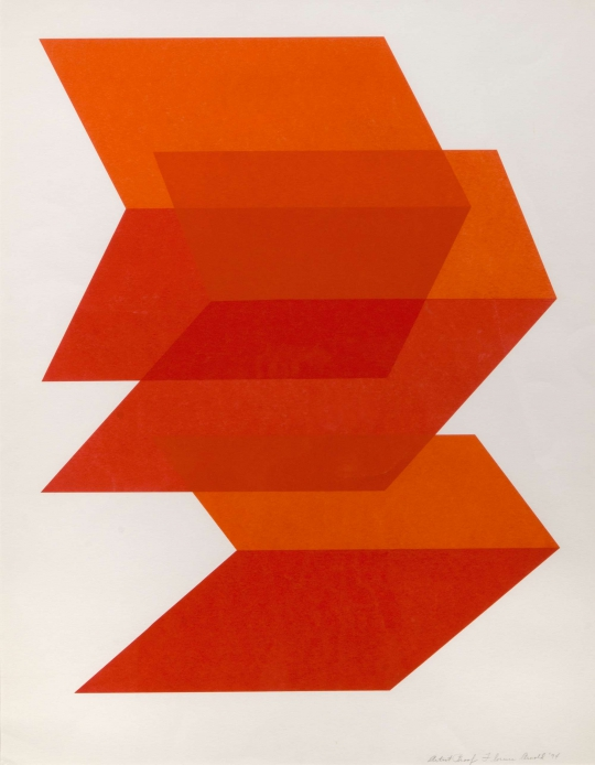 Artist Proof (Red and Orange Horizontal Chevron) by Florence Arnold