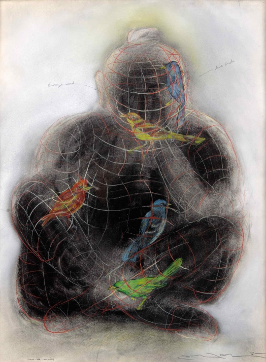 Buddha Cage (catcher) by Terry Allen