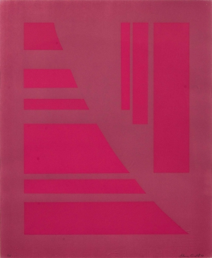 Untitled (Fuchsia and Red)