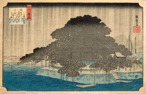Night Rain at Karasaki, from Eight Views of Omi