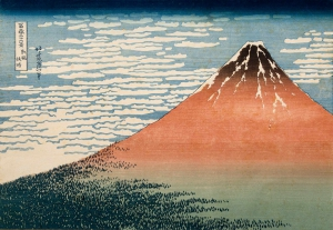 South Wind, Clear Sky (Red Fuji), from Thirty-six Views of Mount Fuji