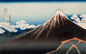 Rainstorm Beneath the Summit, from Thirty-six Views of Mount Fuji